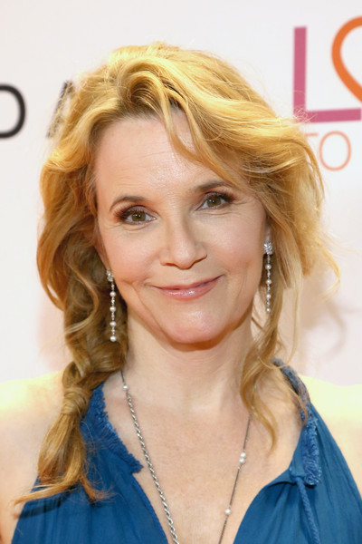 Lea Thompson Loose Braid [gala,lea thompson,hair,face,blond,hairstyle,eyebrow,chin,hair coloring,layered hair,long hair,beauty,race,beverly hills,california,the beverly hilton hotel]