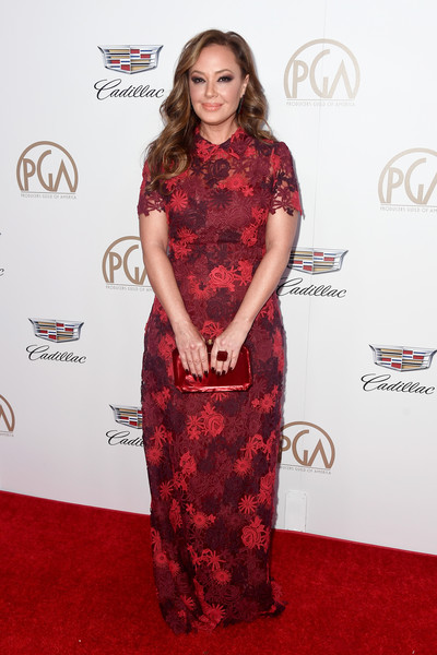 Leah Remini Embroidered Dress