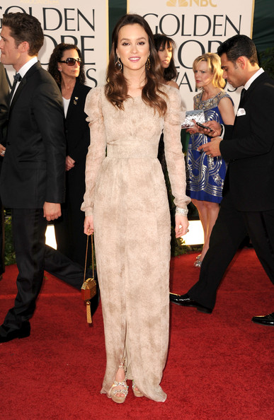 Leighton Meester Evening Dress [red carpet,carpet,clothing,dress,premiere,flooring,suit,event,fashion,formal wear,arrivals,leighton meester,hotel,beverly hills,california,the beverly hilton,golden globe awards]