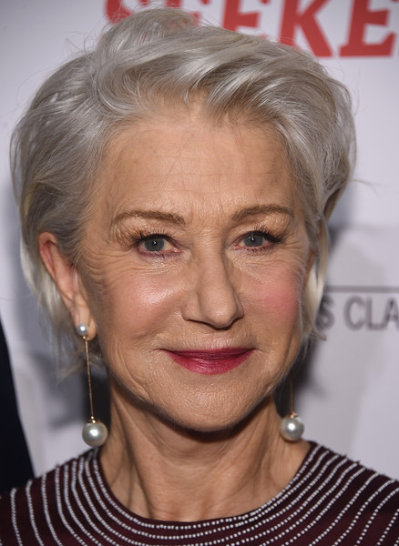Helen Mirren worked a tousled short 'do at the New York screening of 'The Leisure Seeker.'
