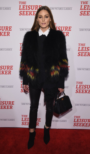 More Pics of Olivia Palermo Leather Purse (1 of 5) - Olivia Palermo Lookbook - StyleBistro [the leisure seeker,clothing,fur,fur clothing,fashion,outerwear,footwear,carpet,premiere,fashion model,textile,olivia palermo,new york,amc loews lincoln square,screening,new york screening]