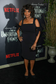 Alfre Woodard donned a little black dress with bowed arm bands for the screening of 'Lemony Snicket's A Series of Unfortunate Events.'