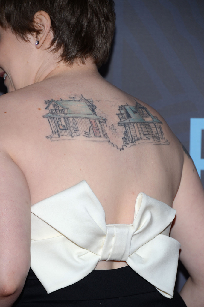 Lena Dunham Artistic Design Tattoo - 130.8KB