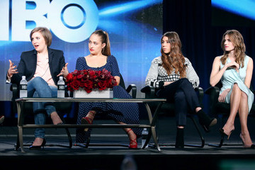 Lena Dunham Zosia Mamet Winter TCA Tour: Day 1