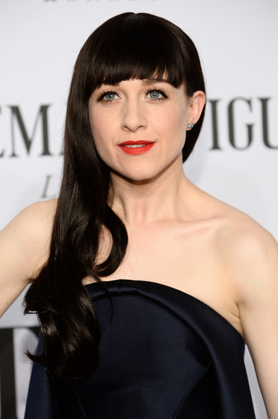 Lena Hall Long Wavy Cut with Bangs