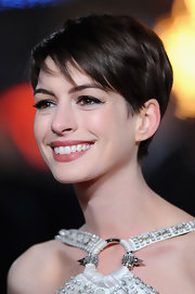 Anne's adorable pixie looked light at wispy at the world premiere of 'Les Miserables.'
