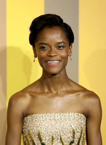 Letitia Wright Short Side Part