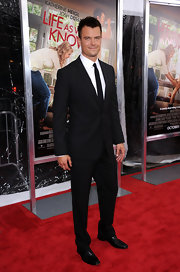 Mr. Duhamel wore a black suit, white shirt and navy tie to the premiere of 'Life As We Know It'.
