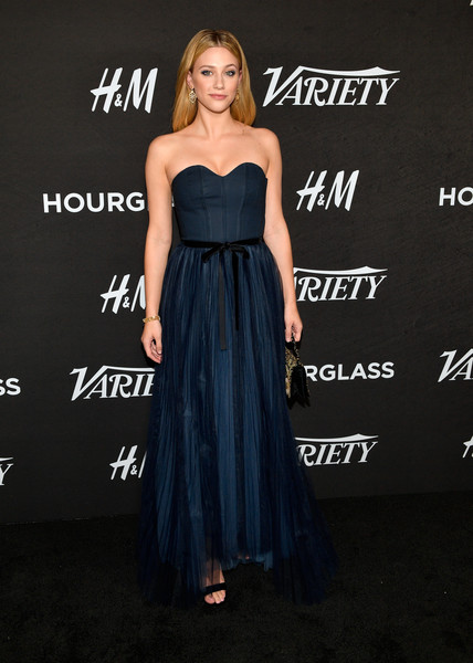 Lili Reinhart Corset Dress [dress,clothing,shoulder,strapless dress,gown,cocktail dress,a-line,hairstyle,fashion,premiere,variety,annual power of young hollywood - arrivals,power,young hollywood,west hollywood,california,sunset tower hotel,lili reinhart]