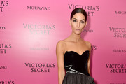 Lily Aldridge Strapless Dress