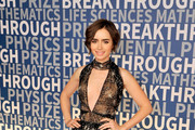 Lily Collins Beaded Dress