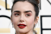 Lily Collins Bright Eyeshadow