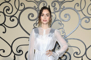 Lily Collins Cocktail Dress