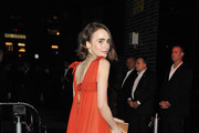 Lily Collins Cutout Dress