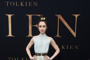 Lily Collins Long Skirt