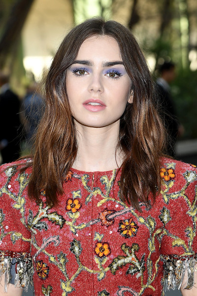 Lily Collins Jewel Tone Eyeshadow
