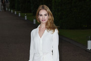 Lily James Shirtdress