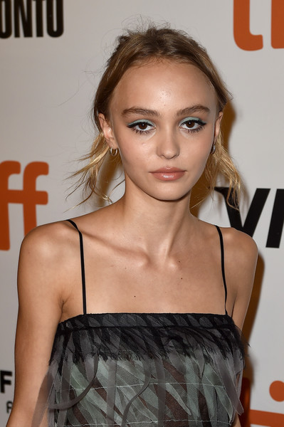 Lily-Rose Depp Messy Updo