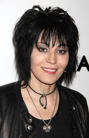 Joan Jett sported a tousled razor cut at the premiere of 'Lilyhammer' season 2.