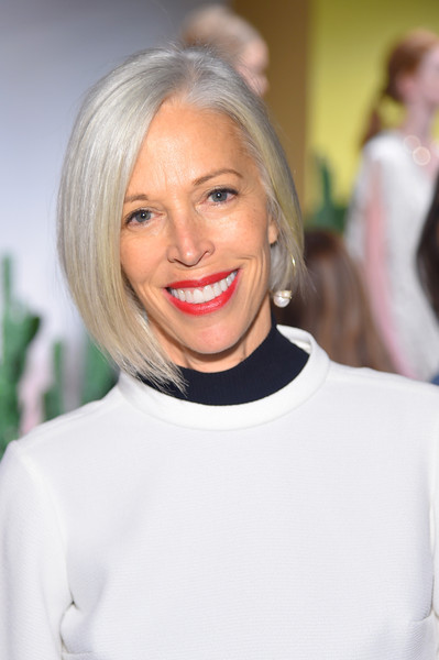 Linda Fargo Graduated Bob [shows,the shows,hair,face,blond,hairstyle,lip,beauty,eyebrow,bob cut,chin,skin,stacey bendet- presentation - spring,stacey bendet,linda fargo,new york city,alice olivia,clarkson sq,the gallery,new york fashion week]