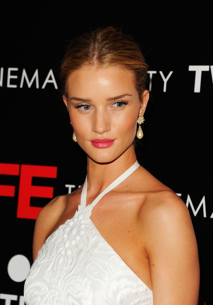 More Pics of Rosie Huntington-Whiteley Bobby Pinned Updo (1 of 9) - Updos Lookbook - StyleBistro