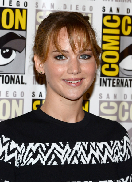 More Pics of Jennifer Lawrence Braided Bun (1 of 33) - Jennifer Lawrence Lookbook - StyleBistro
