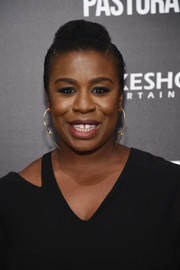Uzo Aduba went edgy-glam with this pompadour at the New York screening of 'American Pastoral.'