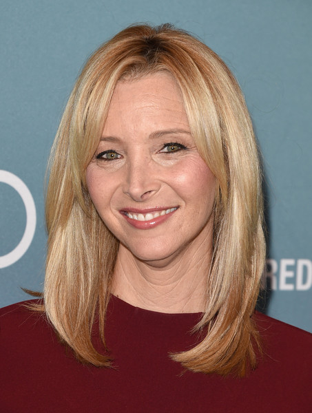 Lisa Kudrow Medium Straight Cut with Bangs