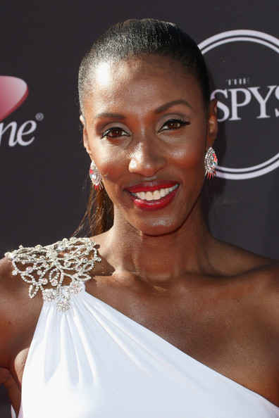 Lisa Leslie Red Lipstick