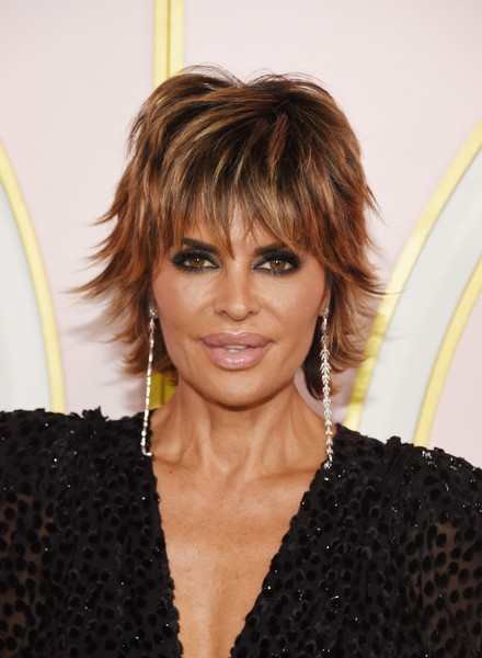 Lisa Rinna Layered Razor Cut [hair,hairstyle,face,blond,eyebrow,layered hair,bangs,brown hair,long hair,hair coloring,lisa rinna,arrivals,emmy awards,amazon prime video post emmy awards,west hollywood,california,cecconi,prime video post,amazon,party]