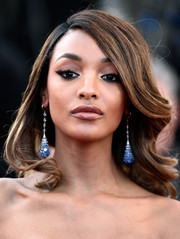 Jourdan Dunn topped off her look with a winged eye.