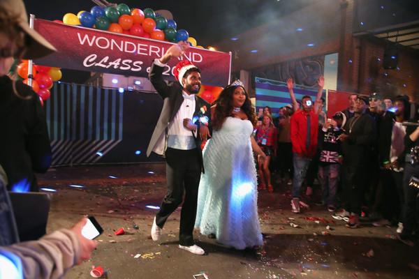 Lizzo Strapless Dress [wonderland live show,event,ceremony,crowd,wedding,party,party supply,marriage,performance,bride,hosts,lizzo,myke wright,los angeles,california,mtv]