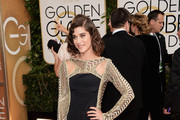 Lizzy Caplan Evening Dress