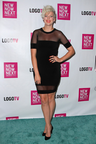 More Pics of Betty Who Messy Cut (1 of 3) - Short Hairstyles Lookbook - StyleBistro [dress,clothing,cocktail dress,little black dress,shoulder,carpet,joint,fashion,footwear,red carpet,arrivals,betty who,newnownext awards,logo tv,miami beach,florida,kimpton surfcomber hotel,tv,logo,2014 newnownext awards]