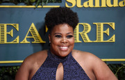 Amber Riley attended the London Evening Standard Theatre Awards wearing her hair in an afro puff.
