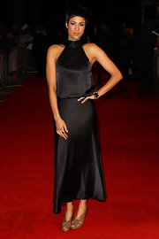 Zawe Ashton looked elegant at the London Critics' Awards in a black silk dress.