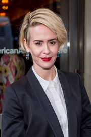 Sarah Paulson wore her hair super short with a deep side part at the 'Long Day's Journey Into Night' Broadway opening.