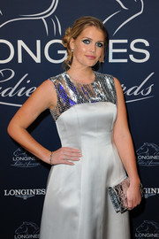 Kitty Spencer polished off her look with a chic gemstone bracelet.
