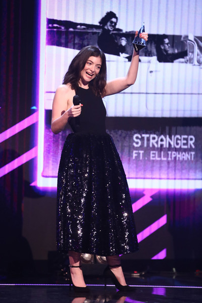 Lorde Halter Dress [song of the year,performance,entertainment,talent show,event,lady,stage,performing arts,singer,public event,fashion,peking duck,lorde,australia,sydney,the star,aria awards 2017 - show,aria awards]