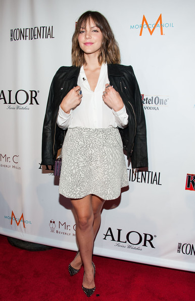 More Pics of Katharine McPhee Leather Jacket (1 of 9) - Leather Jacket Lookbook - StyleBistro