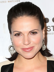 Lana Parrilla slicked her hair back in a half-up half-down 'do for the Los Angeles Confidential Magazine pre-Emmy event.