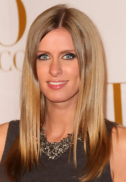 Nicky Hilton created a smoky-eyed makeup look using cool neutral shadow shades at the CULO by Mazzucco launch in LA.