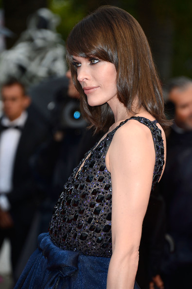 More Pics of Milla Jovovich Medium Straight Cut with Bangs (5 of 48) - Shoulder Length Hairstyles Lookbook - StyleBistro