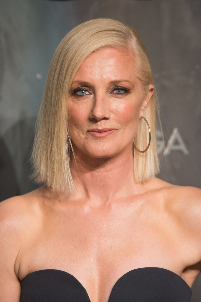 Joely Richardson S Blunt Asymmetrical Cut Hairstyles For