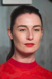 Erin O'Connor wore a casual ponytail to the Lost in Space event.