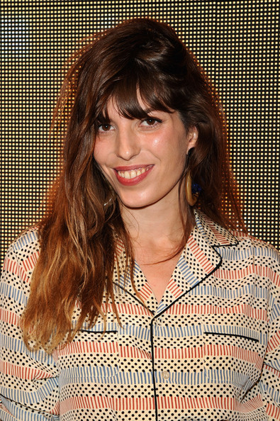 Lou Doillon Long Wavy Cut with Bangs [hair,hairstyle,face,brown hair,layered hair,bangs,lip,chin,blond,long hair,marni,lou doillon,lloyd wright,california,los angeles,sowden house,h m,red carpet,collection launch,h m collection launch]