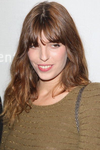 Lou Doillon Long Wavy Cut with Bangs [hair,hairstyle,face,blond,brown hair,bangs,layered hair,eyebrow,chin,long hair,cesar,lou doillon,dinner,revelations,revelations 2011,paris,france,chaumet,cocktail party]