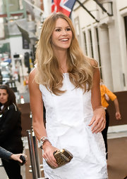 Supermodel Elle MacPherson was a vision at the Bond Street Maison Launch. Her cascading curls were perfect.