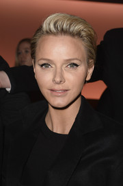 Charlene Wittstock showed off her short, blonde locks at the Louis Vuitton runway show.