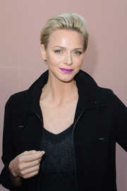 Charlene Wittstock made short hair look so elegant when she attended the Louis Vuitton fashion show.